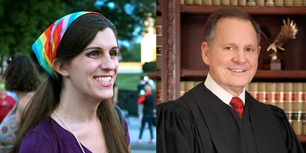 Danica Roem (left) and Roy Moore