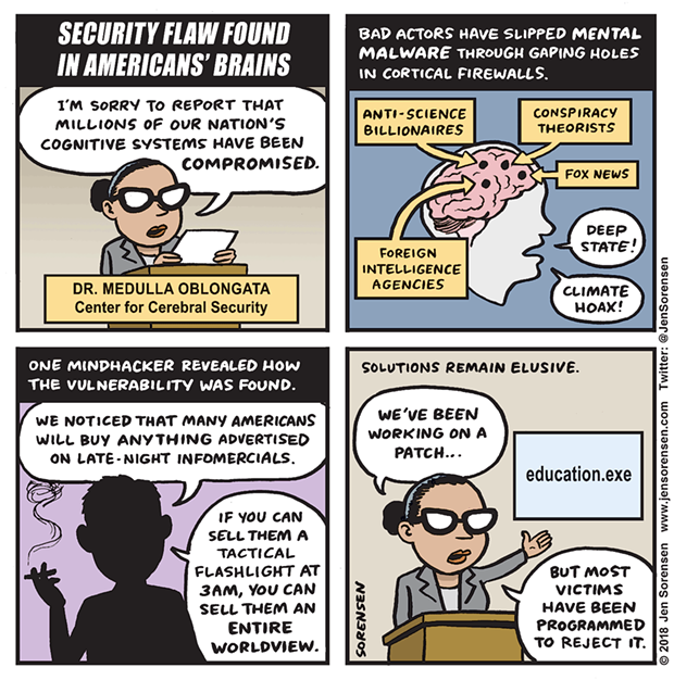 Security Flaws Found in American's Brains
