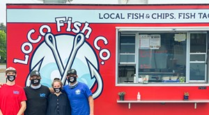 From left to right: Nick Prewitt, Jayme Knight, Crescent Moon Hurwitz, Colin Flanery of Loco Fish Co. - SUBMITTED.