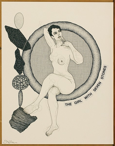 "Steven Vander Meer's ""The Girl with Seven Stones,"" graphite and India ink on paper, 2018. - COURTESY OF THE ARTIST"