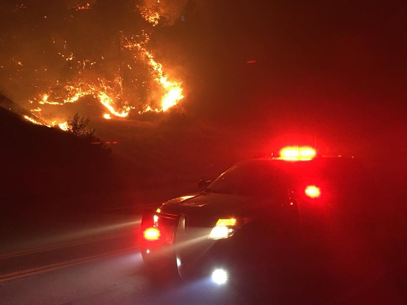 Night image of the Delta Fire. - CHP