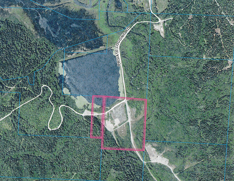 An aerial view of the project site. - COUNTY STAFF REPORT