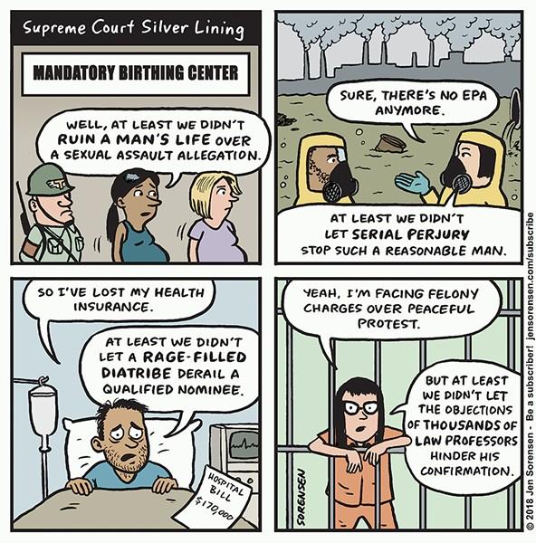 Supreme Court Silver Lining - JEN SORENSEN