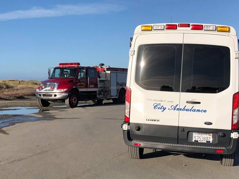 Emergency personnel at the scene. - BOBBY KROEKER