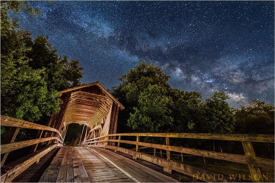 Berta's Ranch Covered Bridge is a couple miles out Elk River Road on Berta Road. - DAVID WILSON