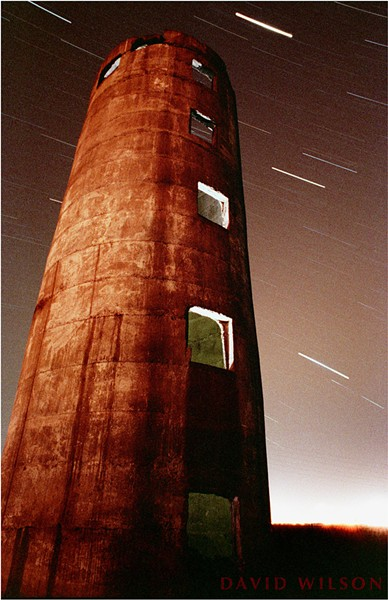The Tower standing at the end of V Street in Arcata, near the Marsh. Photographed in 1991. - DAVID WILSON