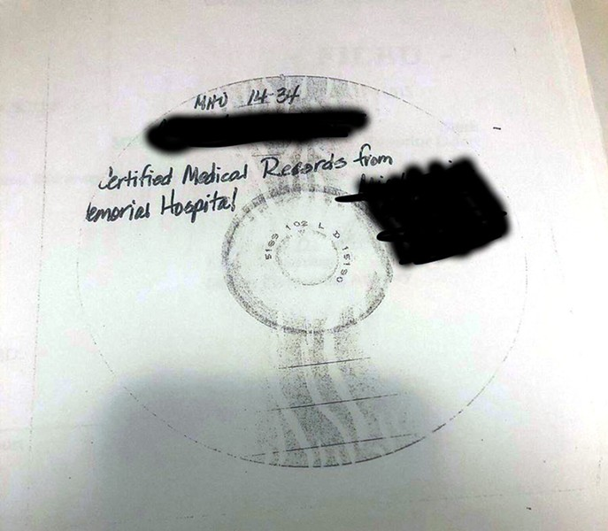 The Scanner Darkly Award: St. Joseph County Superior Court. A ProPublica reporter submitted a FOIA request and all she got was a photo copy of this CD, which presumably contains the actual documents she was asking for. - COURTESY OF JESSICA HUSEMAN