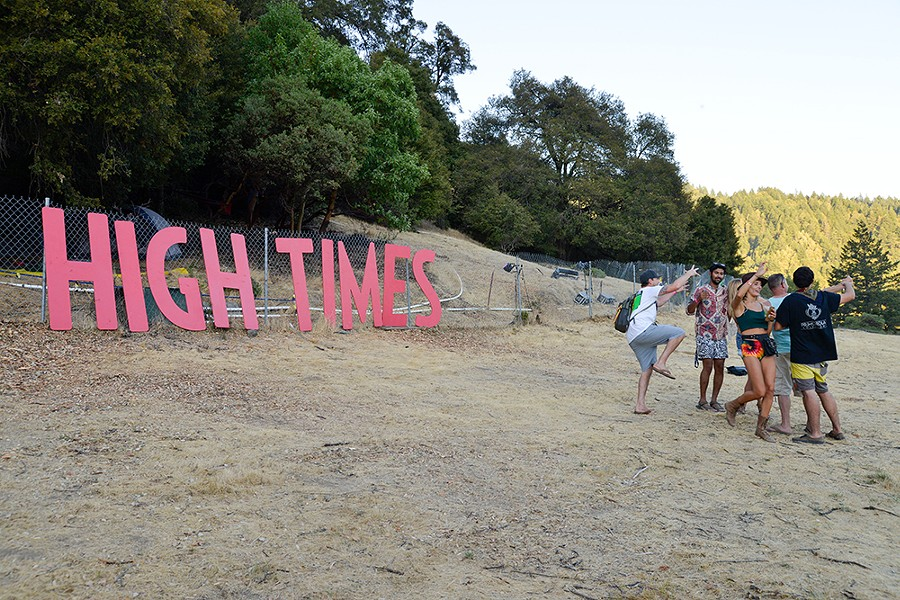 The High Times sign was a popular backdrop for selfies last year. - FILE