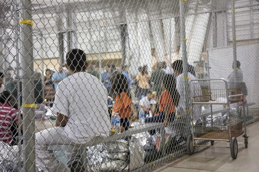Children at a detention center in McAllen, Texas. - CENTER FOR BORDER PROTECTION