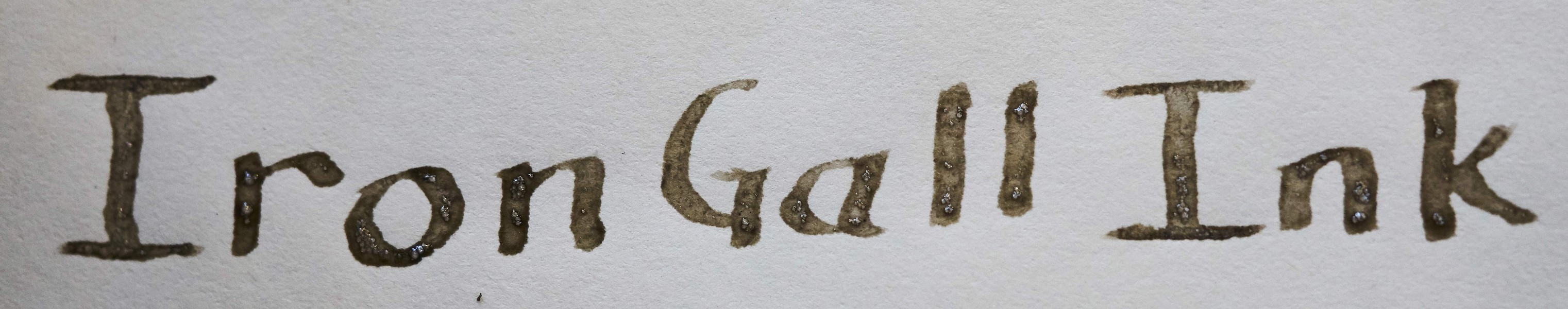 Lettering with home made iron gall ink. - PHOTO BY ANTHONY WESTKAMPER