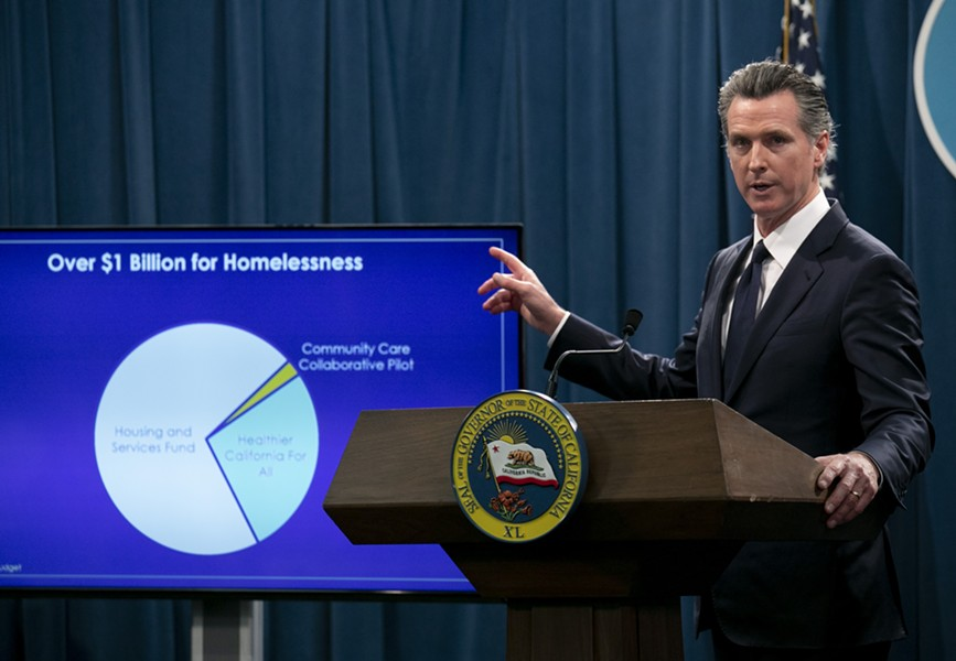 In this file photo, Gov. Gavin Newsom fields questions on his 2020-21 budget proposal Jan. 10, 2020. California now faces a $54 billion deficit. - ANNE WERNIKOFF FOR CALMATTERS