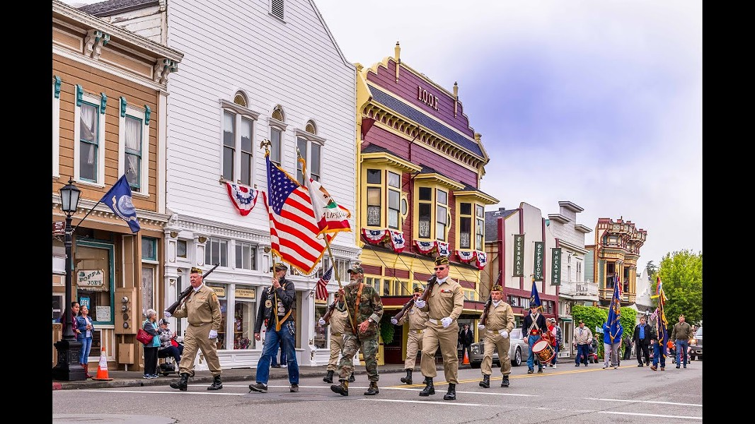 A shot of a previous Ferndale Memorial Day parade from the YouTube video of pre-recorded speeches. - SUBMITTED