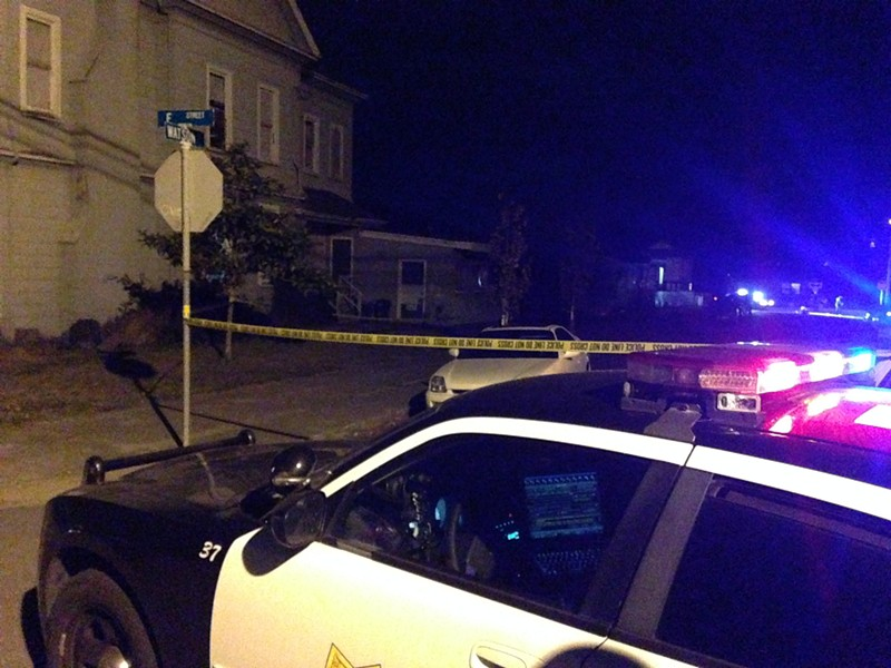 The scene of last night's fatal shooting. - COURTESY OF THE EUREKA POLICE DEPARTMENT