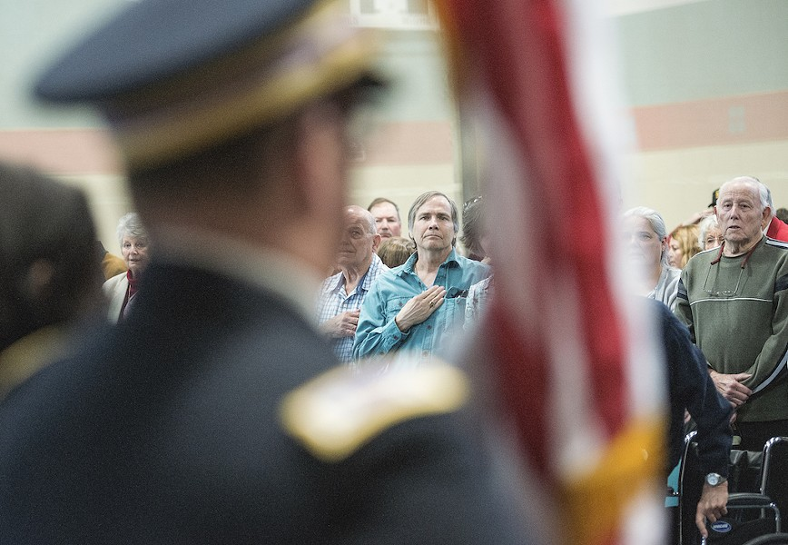 More than 70 Korean War veterans and their families came to the Adorni Center on Saturday, where North Coast Congressman Jared Huffman presented them with medals from the Republic of Korea.