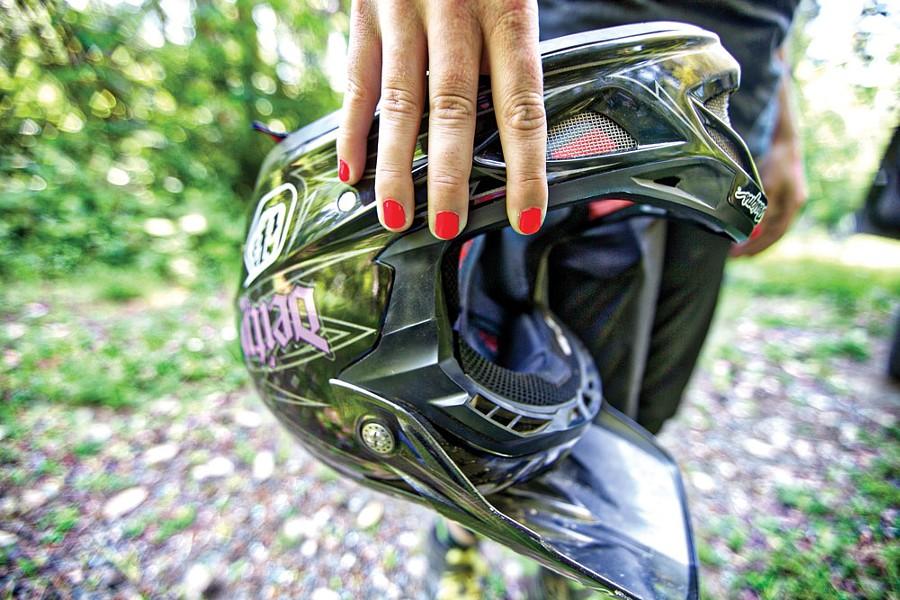 Helmet, check. Nails, check. - ROCKY ARROYO