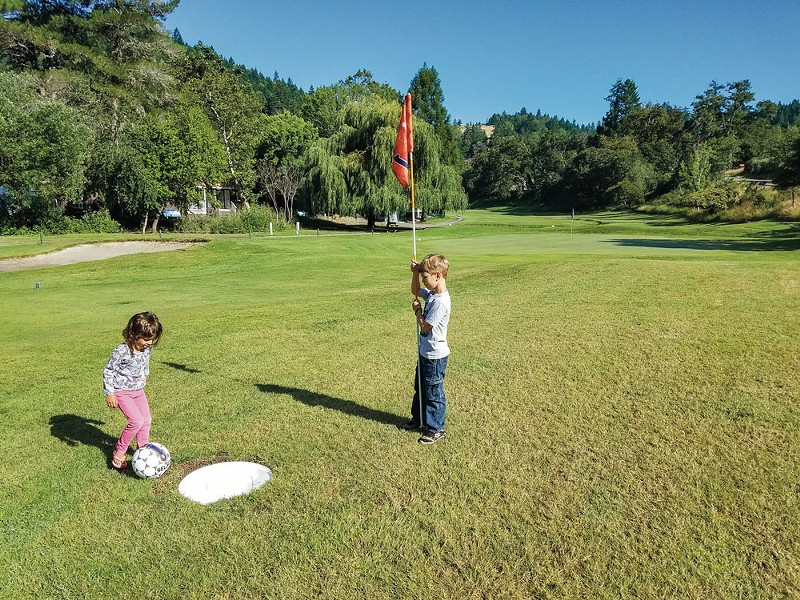 A round of foot golf. - RICHARD STENGER