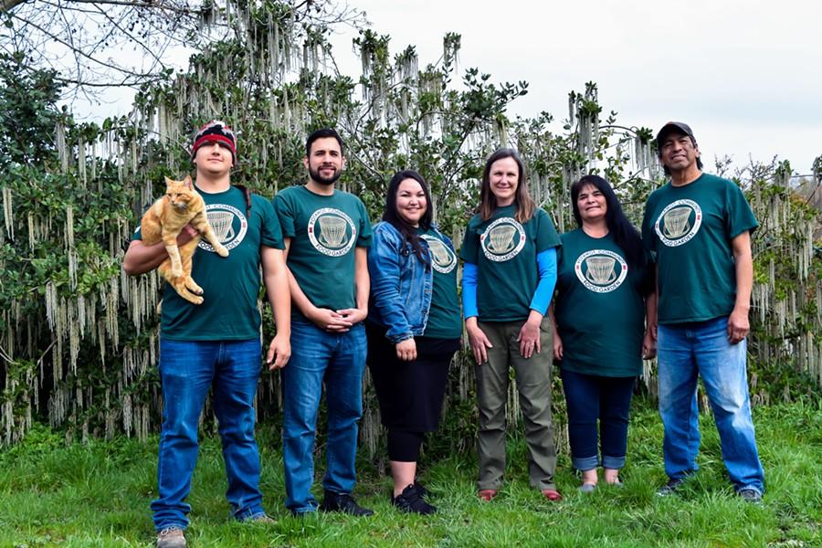 The Potawot garden crew. - COURTESY OF POTAWOT COMMUNITY GARDEN, UIHS