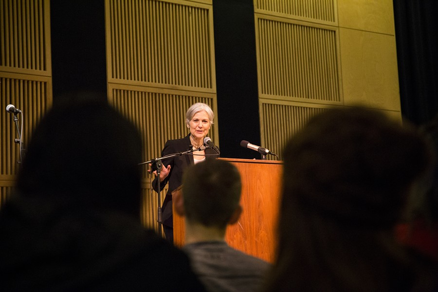 Jill Stein speaking at the Kate Buchanan Room at Humboldt State University on March 8 at 6 p.m. - SAM ARMANINO