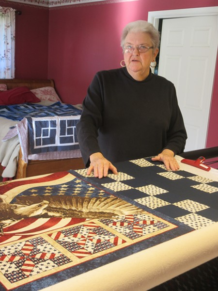 Mimi Mace is the driving force behind the 1,000 quilts per year sewn and donated by Redwood Empire Quilters Guild to a variety of local charities. - PHOTO BY CAROL HARRISON
