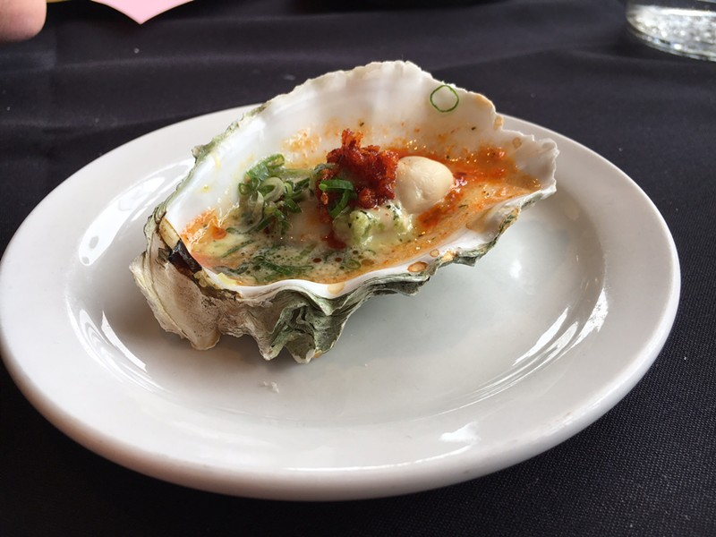 Sushi Spot keeps the cooked crown for this creamy-spicy entry. - JENNIFER FUMIKO CAHILL