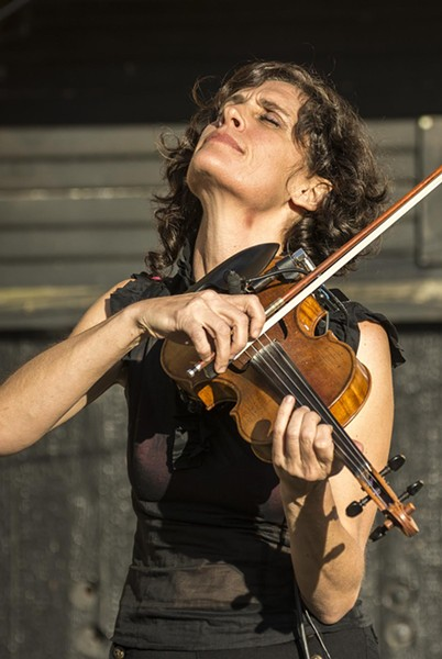 Jenny Scheinman's performance was a highlight of the 39th annual Humboldt Folklife Festival. - MARK LARSON