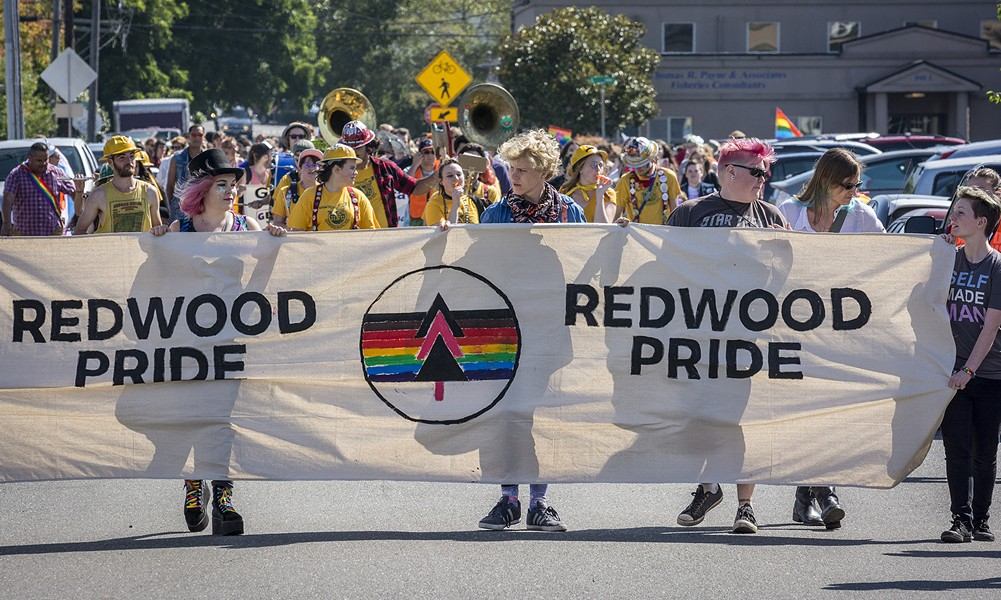 The annual parade rebooted under Redwood Pride's banner. - PHOTO BY MARK LARSON