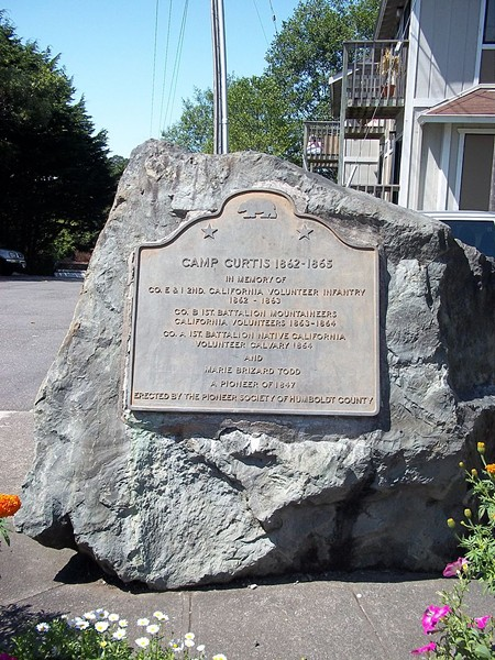 Camp Curtis' historic marker. - WIKIPEDIA