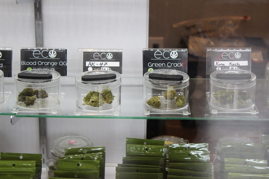 A variety of bud offerings at Eco. - THADEUS GREENSON
