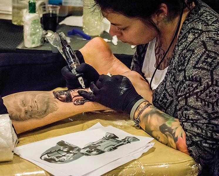 R2-D2 tattoo - PHOTO BY MARK LARSON