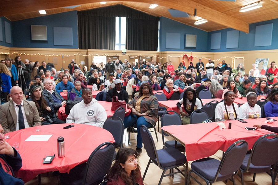 The packed D Street Community Center. - MARK MCKENNA