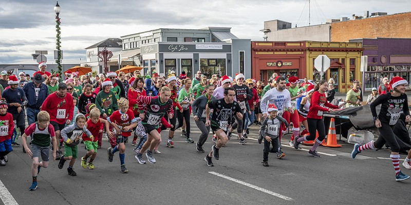 And they're off! The third annual Ugly Holiday Sweater Run.