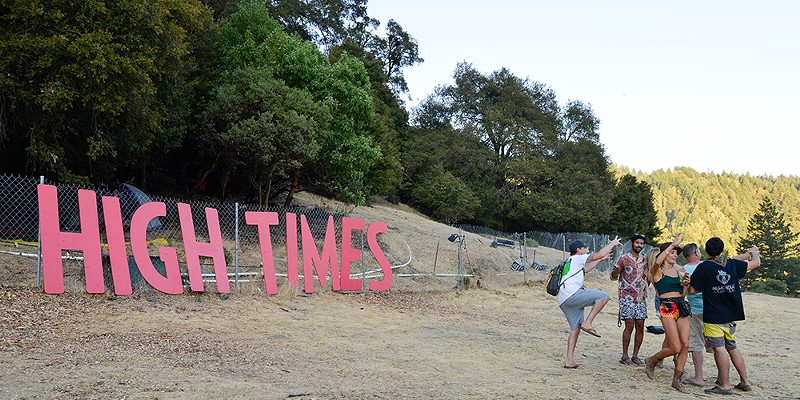 The High Times sign was a popular backdrop for selfies last year.