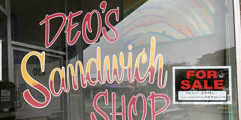 The recently shuttered Deo's Sandwich Shop.