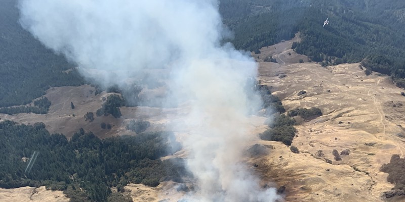 Update: Redwood Fire at 102 Acres, 50 Percent Containment
