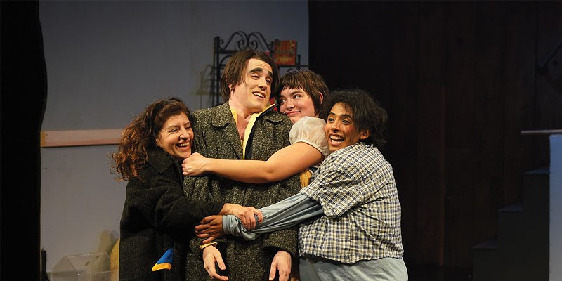 Julieta Garza, Nate FitzSimons, Laura Murillo Hart and Oscar Nava reunite as a happy family.