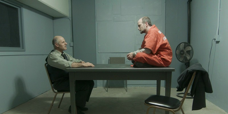 Gary C. Stillman as Det. Jared Lamb and Gavin Lyall as suspect Dean McCallum.