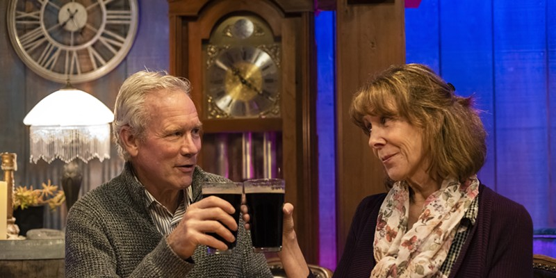 Gary Sommers and Susan Abbey as Robert and Cait.