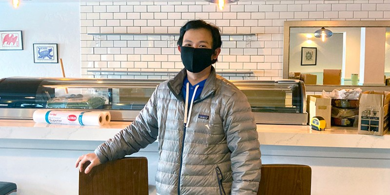 Chef and part-owner Joe Tan at the soon-to-open Nori in Arcata.
