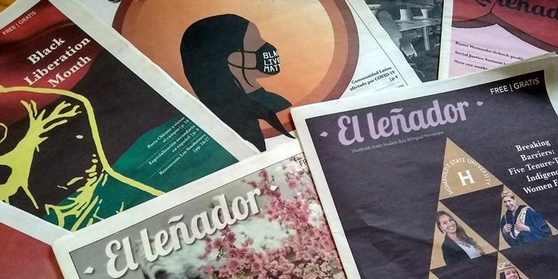 El Leñador newspaper 2020 covers