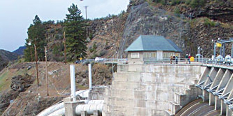 Copco Dam on the Klamath River.