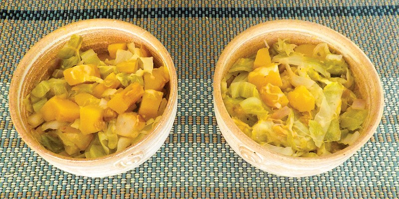 Squash, cabbage, pears and cheese recall flavors of the Alps.