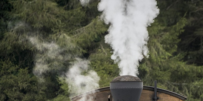 New Slideshow Free rides were offered in a car behind this historic steam engine on tracks installed by the Timber Heritage Society and the Fort Humboldt State Historical Park on Friday. Photo by Mark Larson