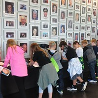 17 Years Later A wall of photographs at the Flight 93 Memorial, with Richard Guadagno's second from the left. Photo courtesy of the National Park Service