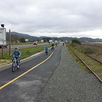 Biking the Humboldt Bay Trail