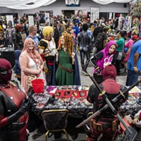 A large crowd of attendees wandered through a mix of vendors and featured artists at Ohana Comic Con.