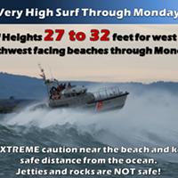 Waves Upward of 30 Feet Along the Coast Today