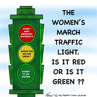 The Women's March Traffic Light. Is it red or is it green?