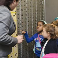 San Francisco kindergartners take a field trip to the bank in 2016 as part of the city's Kindergarten to College savings program.