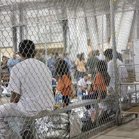 Children at a detention center in McAllen, Texas.