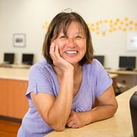 Betty Chinn at the Betty Kwan Chinn Day Center.
